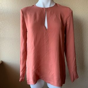 Theory 110% Silk Slit Front Tunic Small